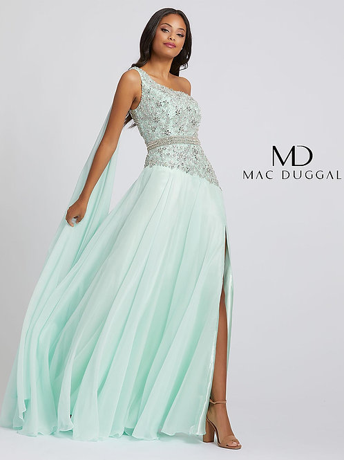 Chiffon Over Satin with Beaded Top Gown