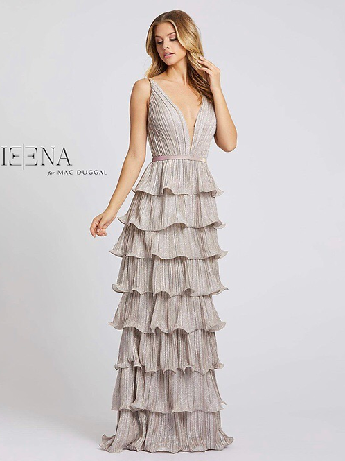 Short or Long Rose Pink Tiered Gown