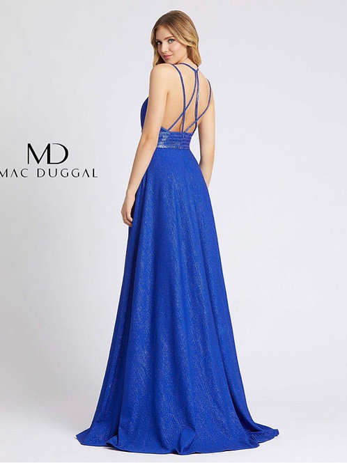 Strappy Royal Blue Gown