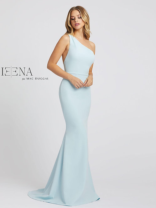 Powder Blue Gown with Train
