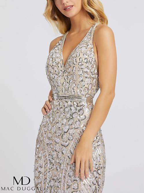 Crystal Nude Sequin Gown                       Sizes 0-16