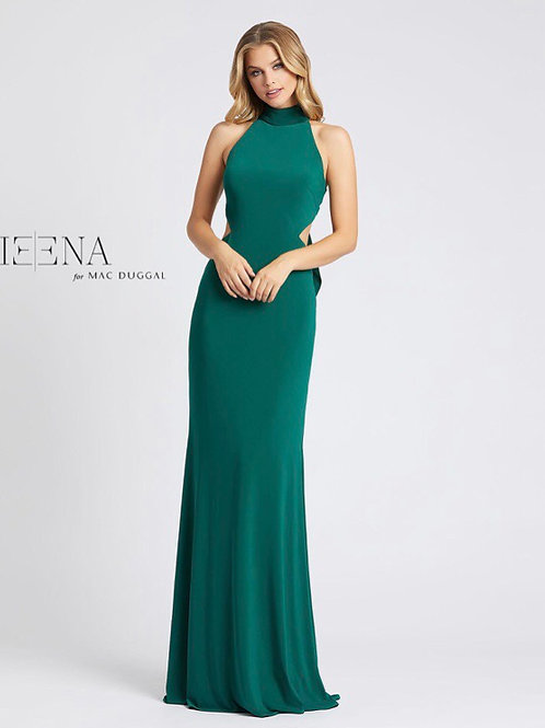 High Neck Open Back Gown