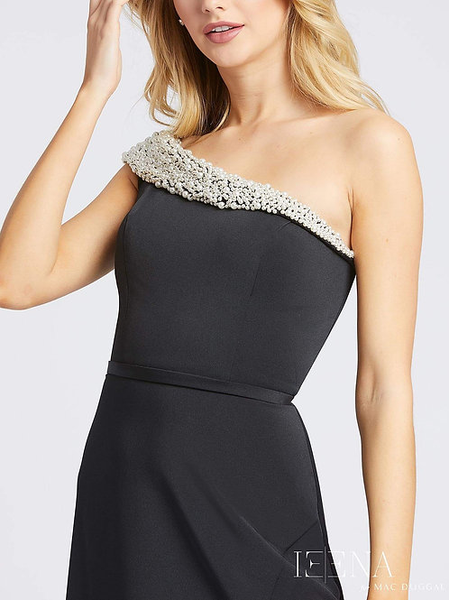 Black With Pearl Embellished Gown         Sizes 0-14