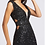 Thumbnail: Fully-Sequence Gown with Side Cutouts in Red and Black