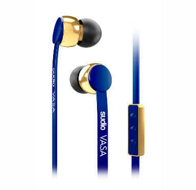 VASA Earphones (for IOS)- Dark Blue