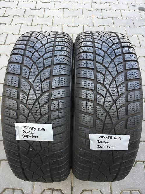 2x 205/55 R16 91 H  Winterreifen Dunlop Runflat