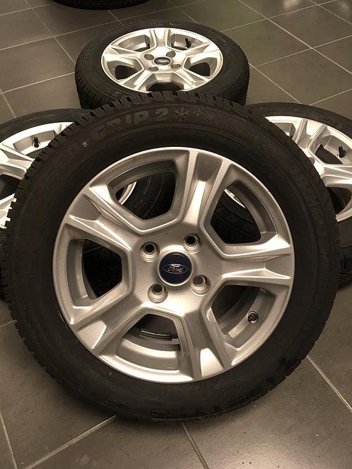 4x 185/60 R 15 XL 88T Winterkomplettrad Ford Felgen + Semperit Reifen