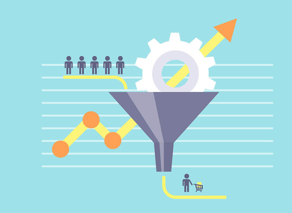funil de vendas convertando leads em clientes