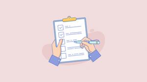 pessoa fazendo checklist