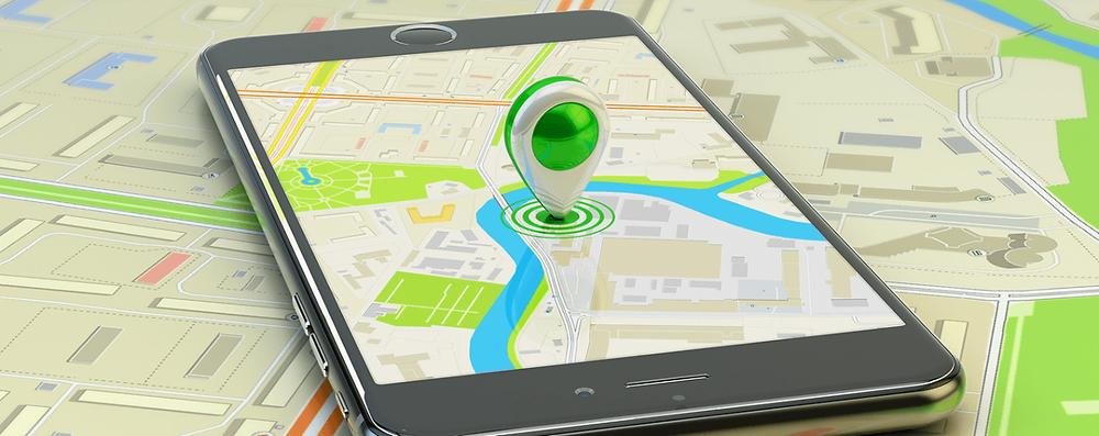 celular mostrando posição de monitoramento