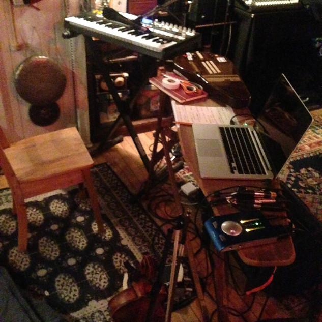 Studio practice setup. 2018