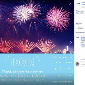 1000 Facebook Likes Post