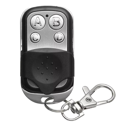 Controle para Portão aço escovado com 04 botão 433,92mhz
