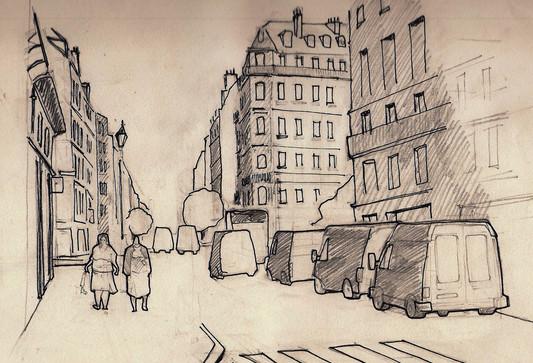 Señoras - Lapiz - Paris 2007