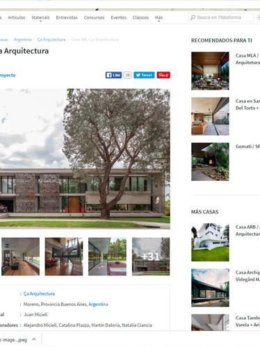 Plataforma de Arquitectura Casa HK