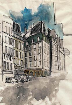 Esquina - tecnica mixta - Paris 2009
