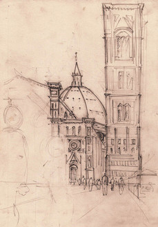 Iglesia  - Florencia - Lapiz 2008