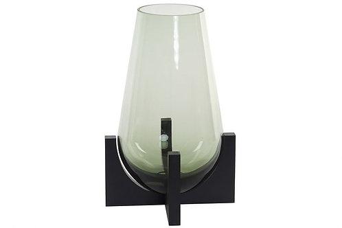 Jarrón de cristal con base bajo