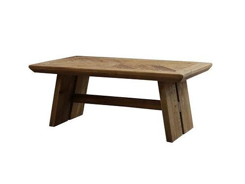 Mesa de centro rectangular en madera reciclada