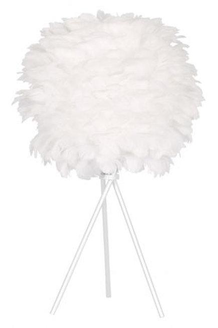 Lámpara esférica con plumas