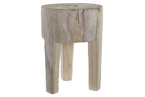 Mesita auxiliar en madera natural