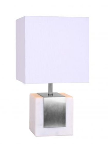 Lámpara contempo con detalle en plata