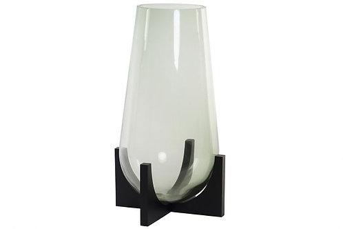 Jarrón de cristal con base alto