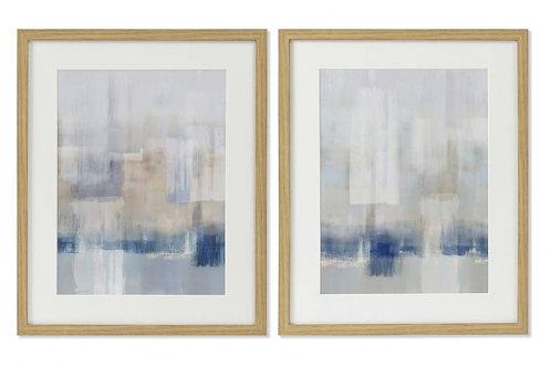 Set de 2 cuadros abstract azul