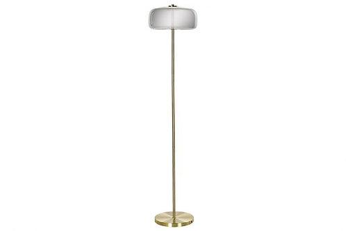 Lámpara de pie cúpula de cristal