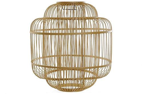 Pantalla de lámpara Oval de bambú