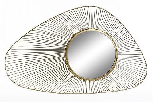 Espejo irregular dorado