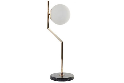 Lámpara deco de bola dorada