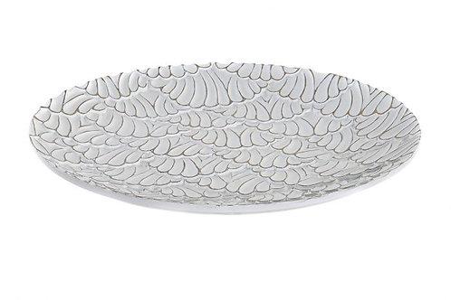 Bandeja decorativa conchas blanco