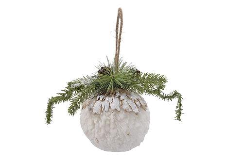 Bola decorativa nevada