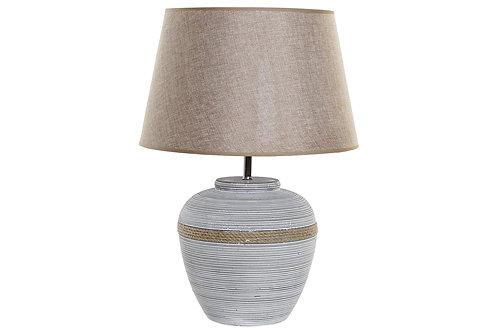 Lámpara beige en lino color crudo