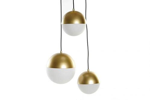 Lámpara triple de bolas