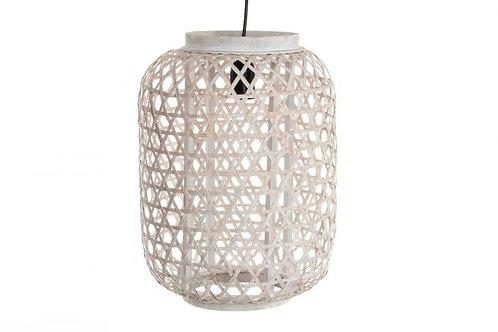 Lámpara bambú blanco