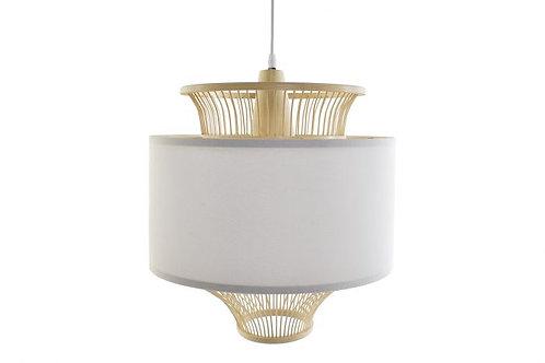 Lámpara colgante redonda de bambú