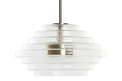 Lámpara colgante Gatsby en cristal y metal