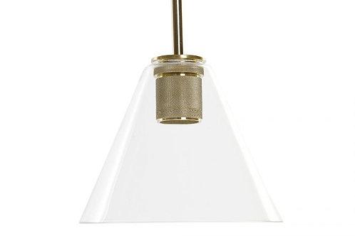 Lámpara cónica con detalle dorado