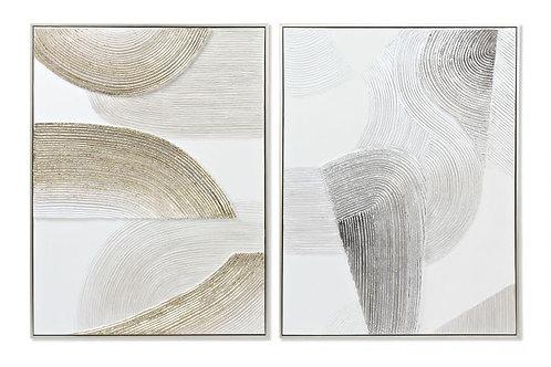 Set de 2 cuadros huella
