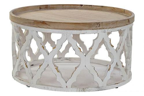 Mesa de centro vintage en blanco