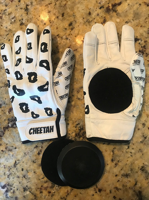 Cheetah Gloves White