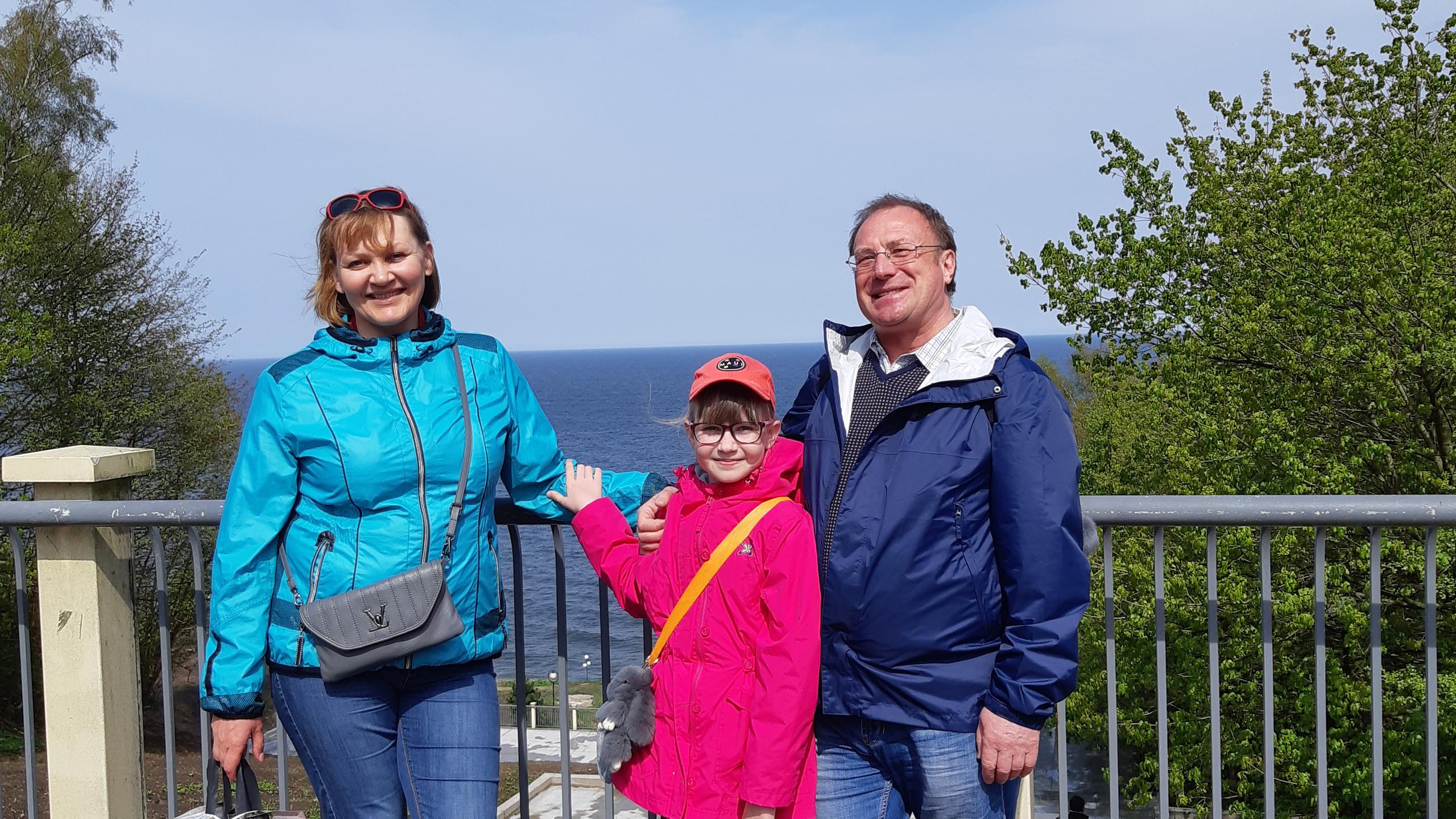 Полина с Сахалина с родителями