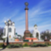 Площадь Победы укращена к #деньпобеды202