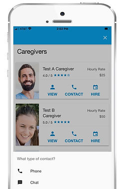 Contact Caregiver Before Requesting Appo