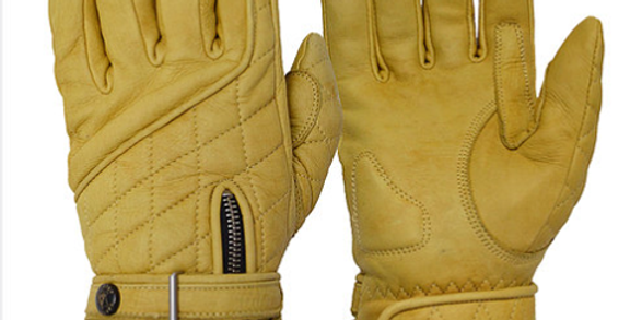 GOLDTOP The Waxed Tan Quilted Cafe Racer Gloves ワックスドタン キルトカフェレーサーグローブ