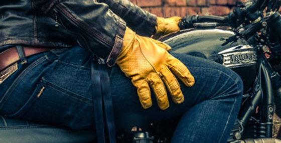 【即納】GOLDTOP Short Bobber Gloves - Waxed Tan ショートボバーグローブ ワックスドタン