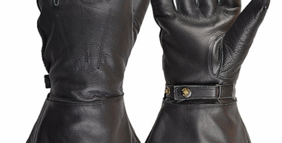 GOLDTOP Sheepskin Lined Gauntlet - Black シープスキンラインド ガウントレット ブラック