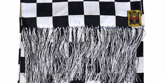GOLDTOP 100% Silk Chequered Flag Scarf